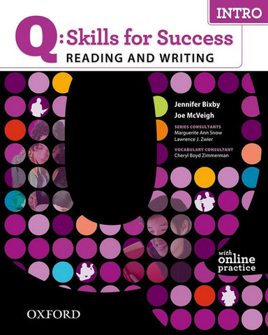 Q: Skills for Success- Reading and Writing: Intro student book + online practice