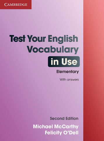 Test Your English Vocabulary in Use - Elementary book with answers