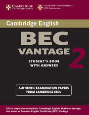 Cambridge BEC Vantage 2 Student's book + answers
