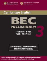 Cambridge BEC Preliminary 3 Student's book + answers