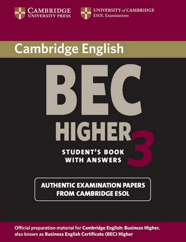Cambridge BEC Higher 3 student's book with answers