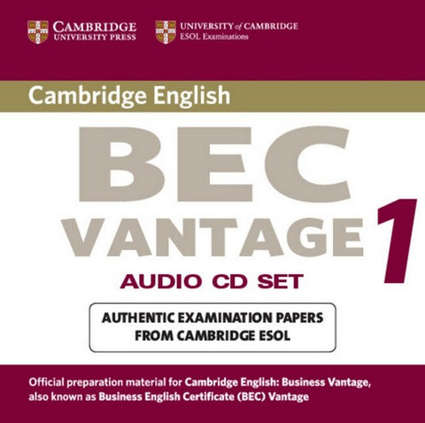 Cambridge BEC Vantage 1 audio-cd's (2x)
