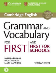Cambridge English Grammar and Vocabulary for First and First for Schools book + answers + downloadable audio file