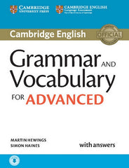 Cambridge English Grammar and Vocabulary for Advanced book + answers + downloadable audio-file