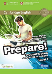 Cambridge English Prepare! 7 student's book+online workbook+testbank