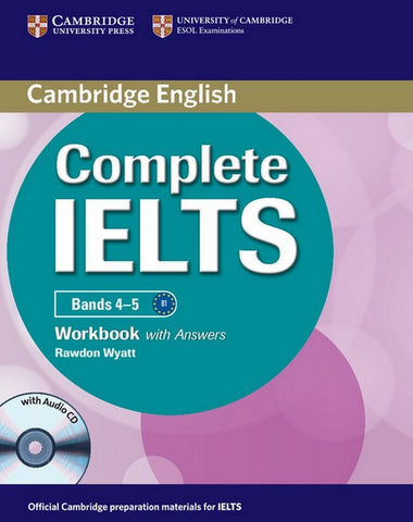 Complete IELTS Bands 4-5 B1 workbook with answers + audio-cd