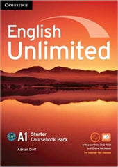 English Unlimited - Starter Coursebook with e-Portfolio and Online Workbook Pack