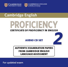 Cambridge English Proficiency 2 audio-cd's (2x)