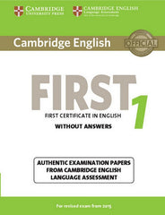 Cambridge English First for Revised Exam from 2015 student's book without answers