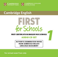 Cambridge English First for Schools for Revised Exam from 2015 1 audio-cd's (2x)