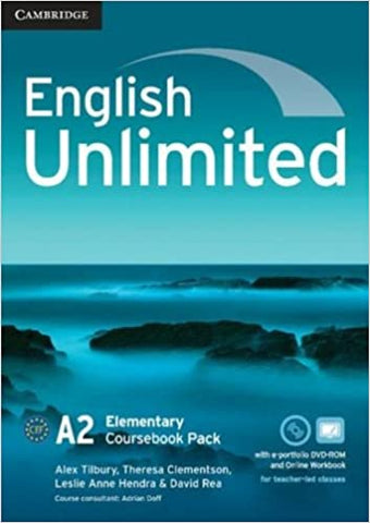 English Unlimited - Elementary Coursebook with e-Portfolio and Online Workbook Pack