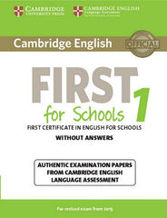 Cambridge English First for Schools for Revised Exam from 2015 1 student's book without answers
