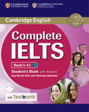 Complete IELTS Bands 5-6.5 Students book with answers + CD-Rom Test