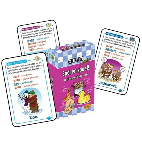 QUIZ IT! Junior Spel en speel! Spellingraadsels varia