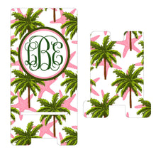 Load image into Gallery viewer, Palm Tree and Starfish Personalized Cell Phone Stand