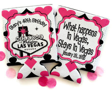 Load image into Gallery viewer, Vegas Bachelorette Tote bag. Vegas Wedding Party Favors! Vegas Bachelorette Tote Bag. Custom Vegas Favor Bag. Vegas Swag Bag.