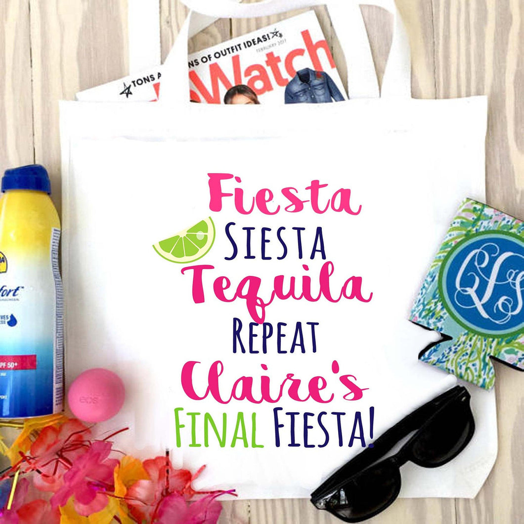Fiesta Personalized Tote Bag