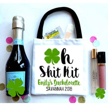 Load image into Gallery viewer, Shamrock Watercolor Huggers. St Patrick's Day Party Favors. St Patricks Bachelorette huggers. Irish Party Favors. Personalized Can Coolers!