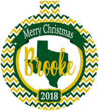 Load image into Gallery viewer, Texas Personalized Ornament