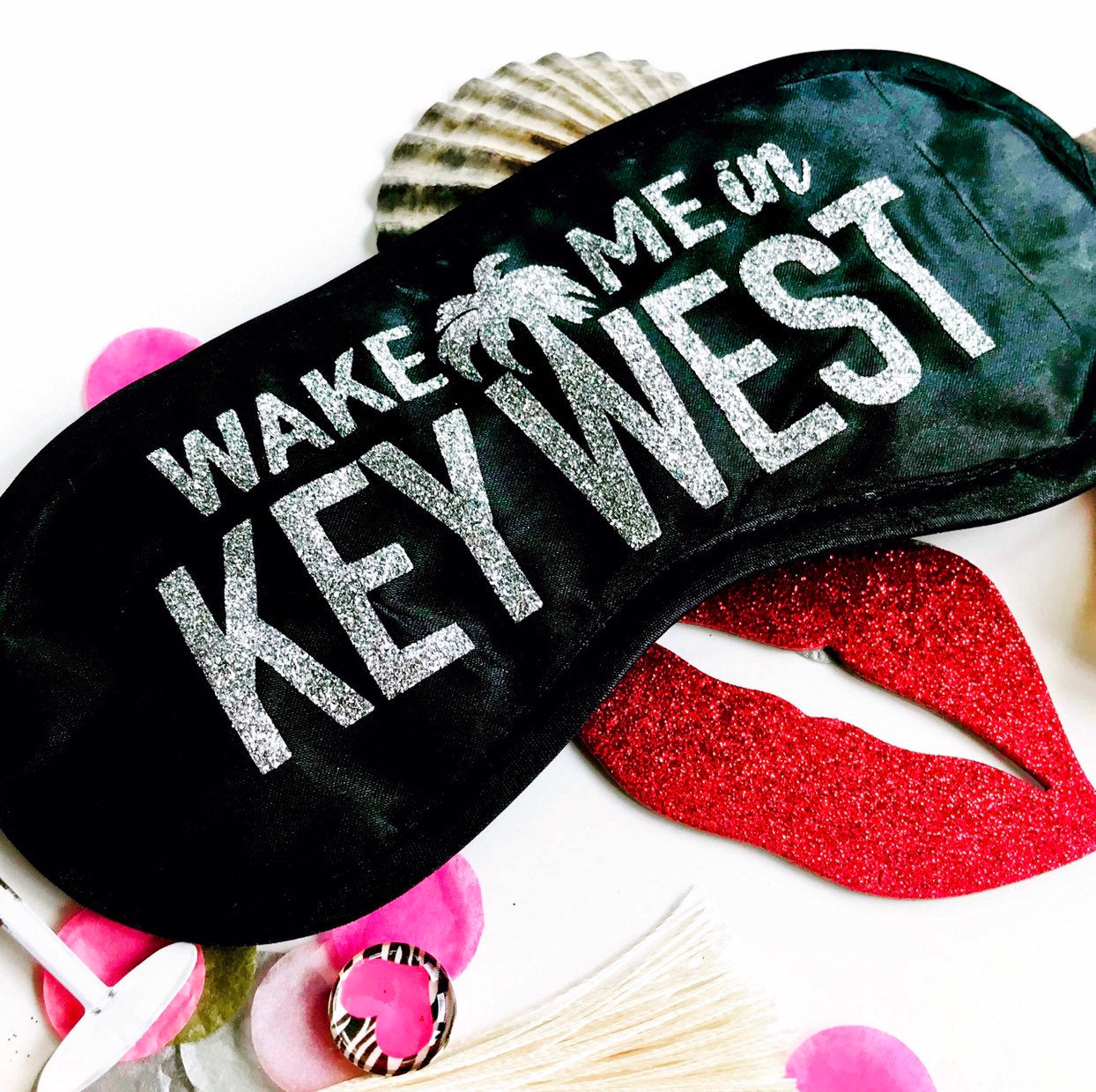 Key West Glitter Sleep Mask