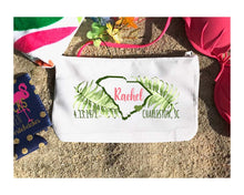 Load image into Gallery viewer, Palm South Carolina Personalized Make Up Bag