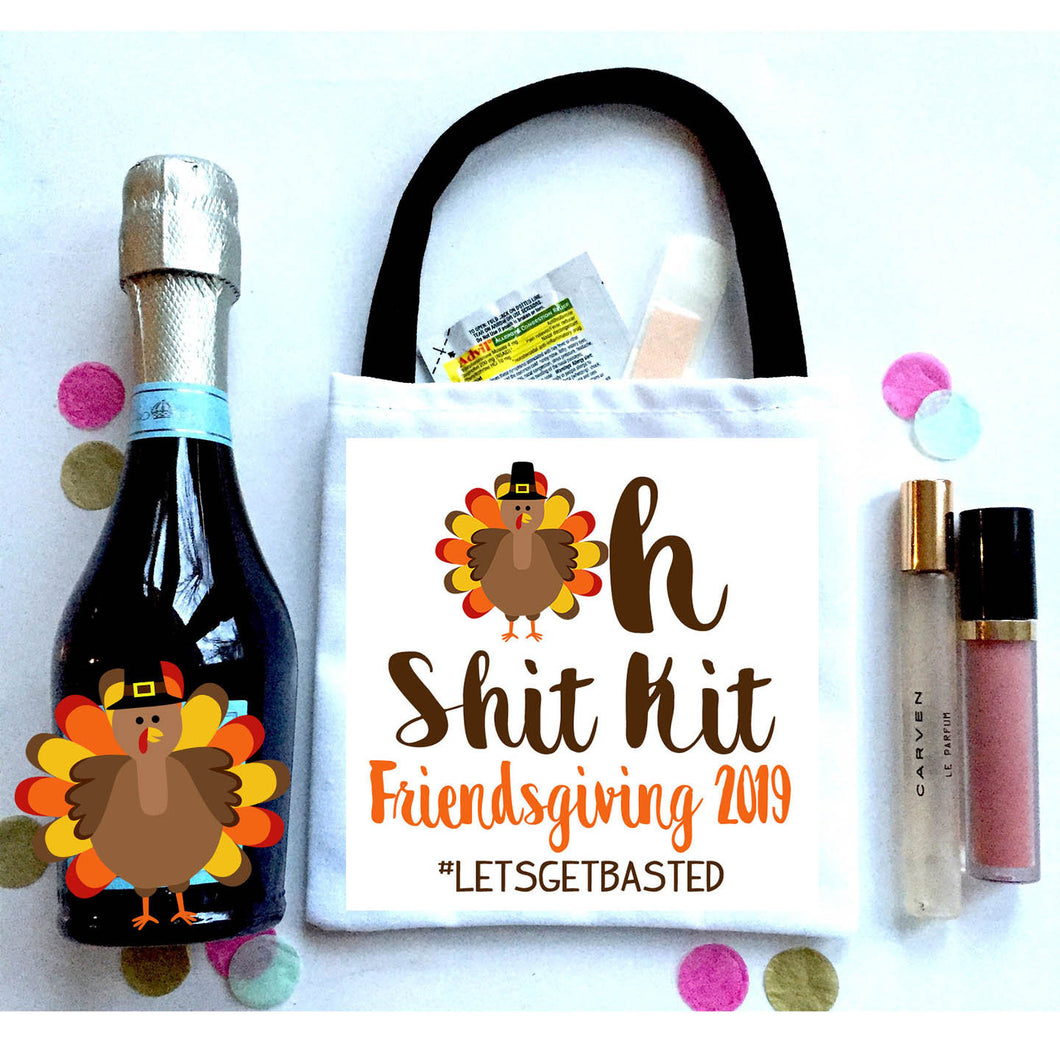 Friendsgiving Mini Hangover Bags