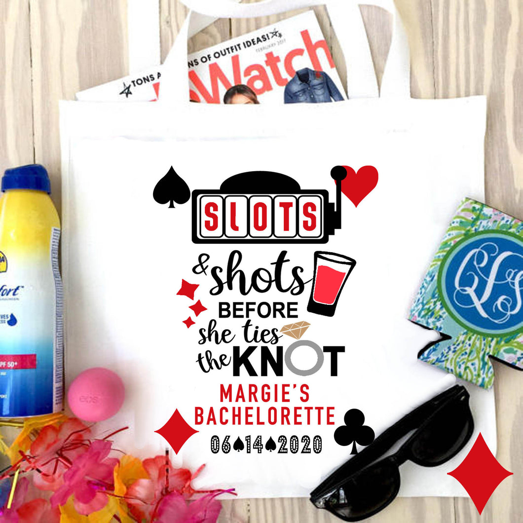 Vegas Bachelorette Tote bag. Vegas Wedding Party Favors! Vegas Bachelorette Tote Bag. Custom Vegas Favor Bag. Vegas Swag Bag.