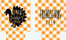 Load image into Gallery viewer, Friendsgiving Gingham Personalized Party Huggers