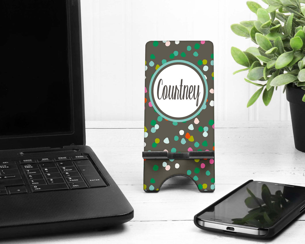 Confetti Personalized Cell Phone Stand