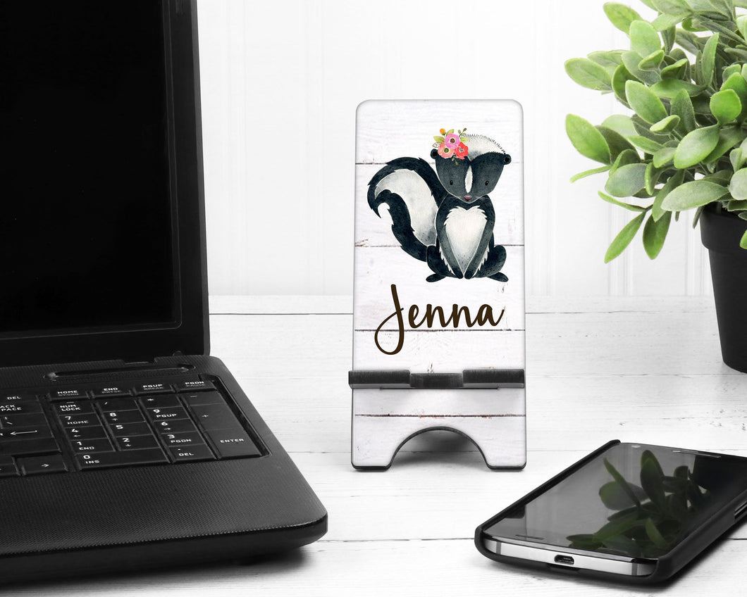 Skunk Personalized Cell Phone Stand