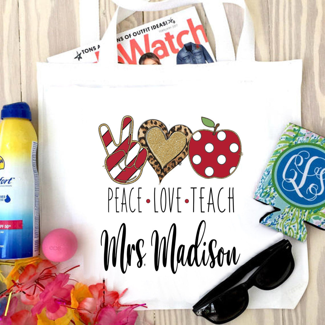 Teacher Personalized Tote Bag