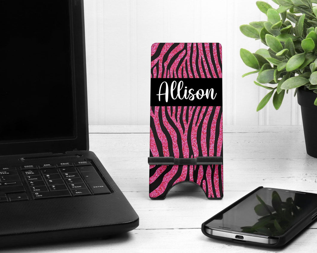 Zebra Personalized Cell Phone Stand