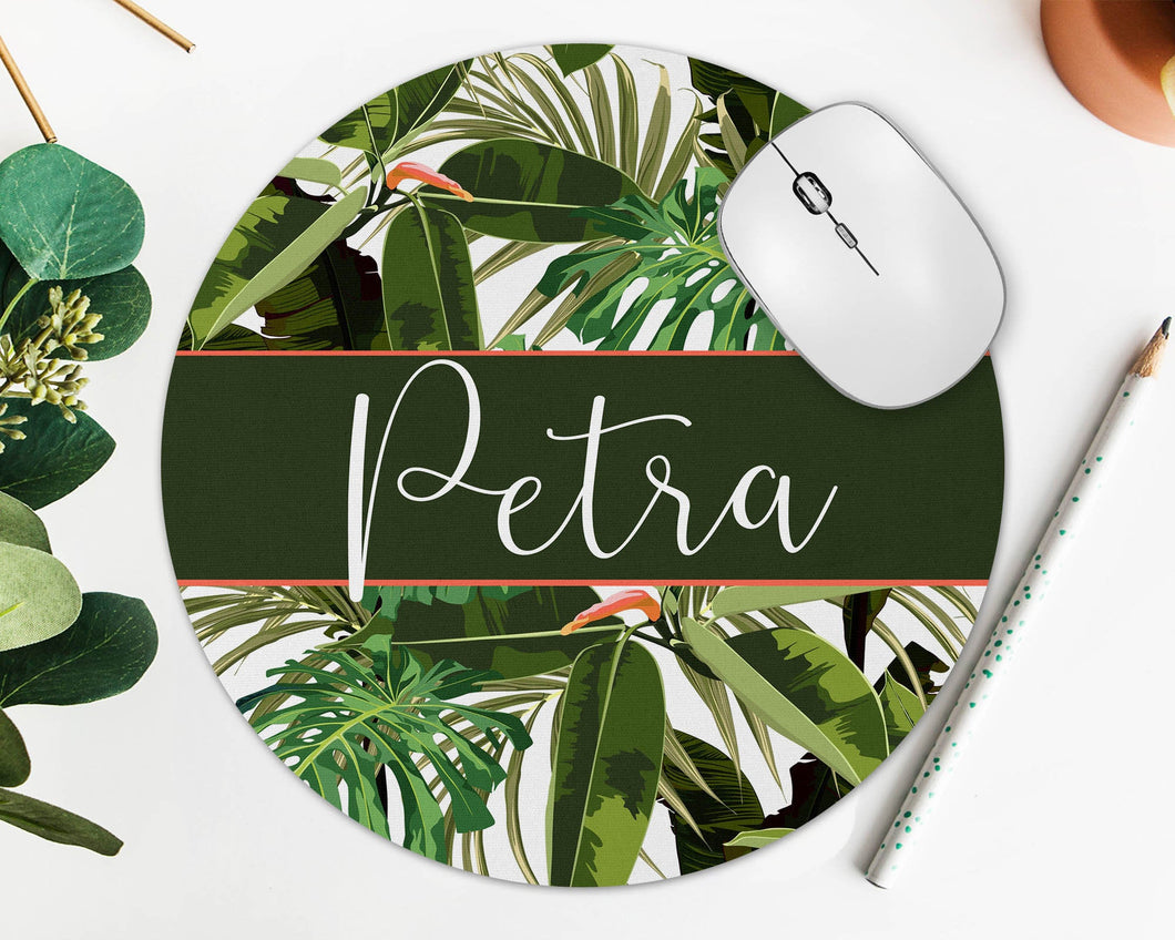 Palm Leaves Personalized Mouse Pad