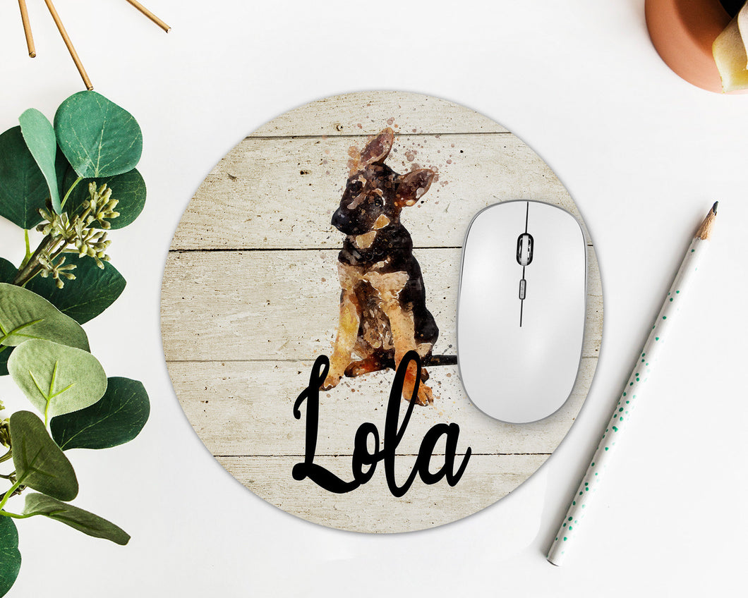 German Shepherd Puppy Personalized Mouse Pad