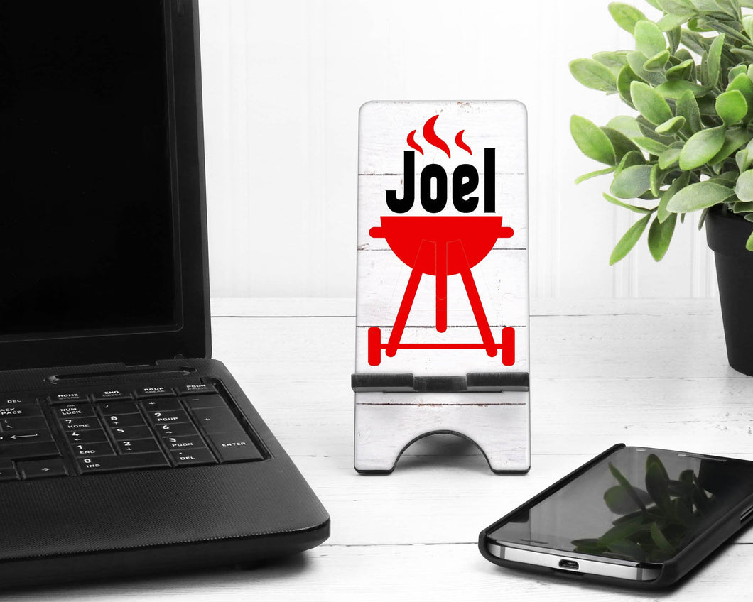 Grilling Personalized Phone Stand