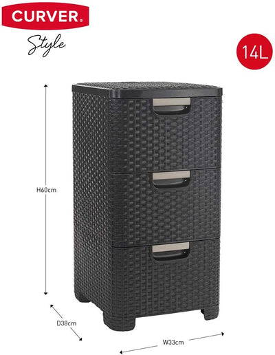 Storage Tower Vintage White 14 Litre - USTAD HOME