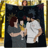 Personalized Faceless Illustration Photo Design Baby Couple Family Love Blanket - UH