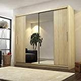 Big Stylish Sliding Wardrobe 204cm - UH