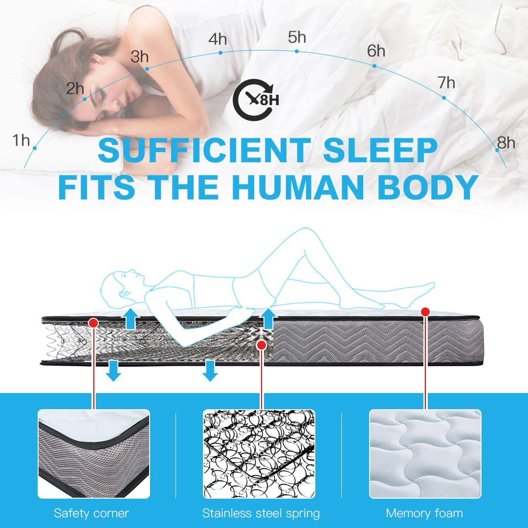 Breathable Mattress with Memory Foam - UH