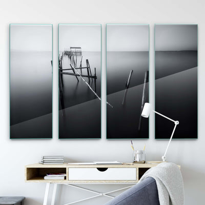 Carrasqueira in Black and White by Iván Ferrero Glass Print - UH