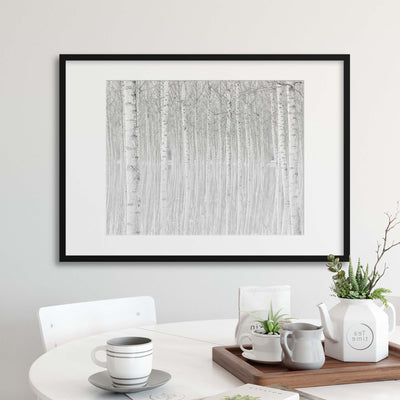 Trees by Aglioni Simone Framed Print - UH