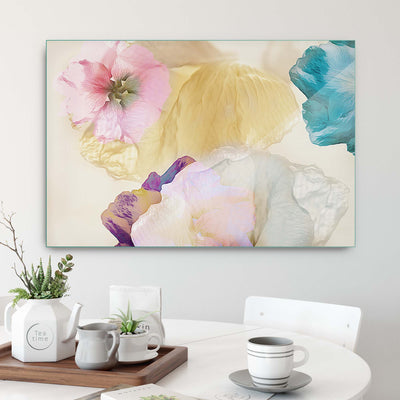 Ethereal Flowers by Ludmila Shumilova Glass Print - UH