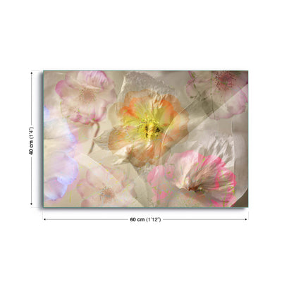 Ethereal Roses by Ludmila Shumilova Glass Print - USTAD HOME