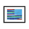 Facade Colors by Alfonso Novillo Framed Print - USTAD HOME