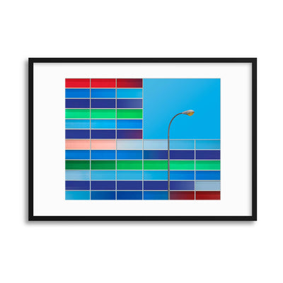 Facade Colors by Alfonso Novillo Framed Print - UH