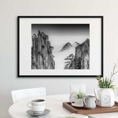 Huangshan by Chenzhe Framed Print - UH