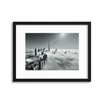 Up Up and Above by Naufal Framed Print - USTAD HOME