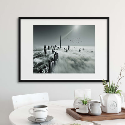 Up Up and Above by Naufal Framed Print - UH