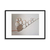 Golden rings by Heidi Westum Framed Print - USTAD HOME