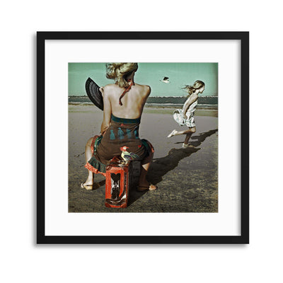 Dance! Little bird... by Ambra Framed Print - USTAD HOME